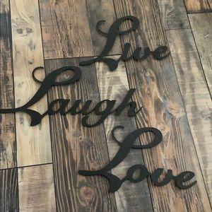 Live Laugh Love Wire Decor